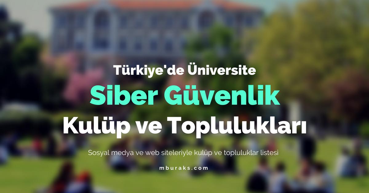 Türkiye'de Siber Güvenlik Kulüp ve toplulukları