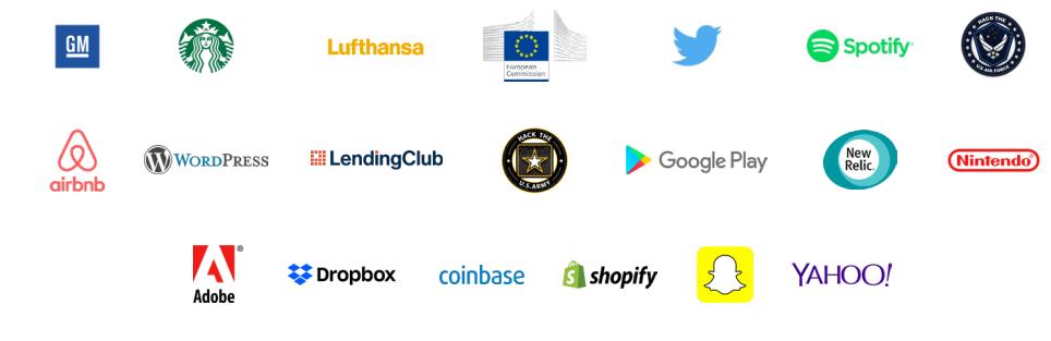 HackerOne'daki bazı firmalar
